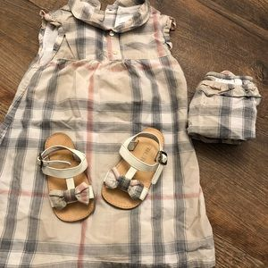 Authentic Burberry Dress and sandals